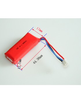 300mAh 7.4V 2S1P 35C+ 3P UMX Connector