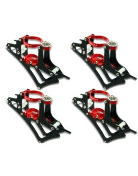 CNC Motor Mount Set (Red) - Blade mQX mQX601-R
