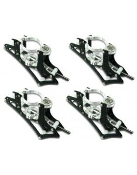 CNC Motor Mount Set (Silver) - Blade mQX mQX601-S