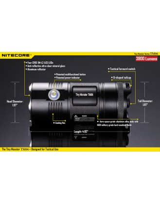 Nitecore Tiny Monster TM06 4 x XM-L2 3800 Lumens