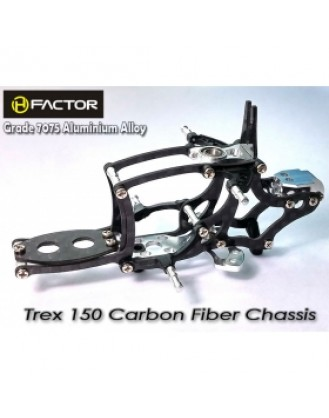 Trex 150 Carbon and 7075 Alloy Chassis -Silver