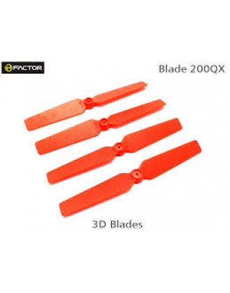 200QX 3D Fixed Props - Red 4 pcs, 2R+2L HF200QX05RD