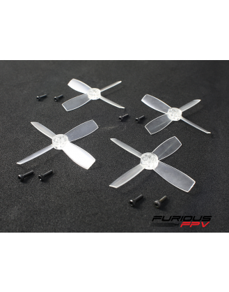 FuriousFPV High Performance 1935-4 Propellers - Transparent (2CW & 2CCW) FPV-0152-S