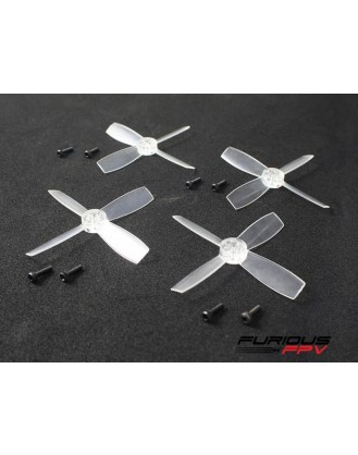 FuriousFPV High Performance 2035-4 Propellers - Transparent 2CW & 2CCW FPV-0153-S