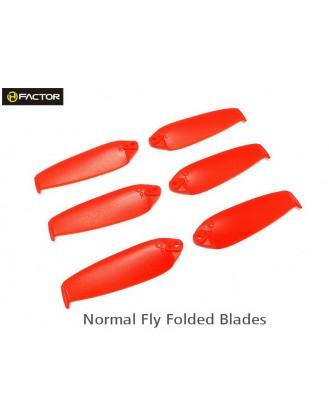 200QX Normal Foldable Blade -Red 6 pcs, 3R+3L HF200QX03RD