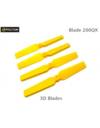200QX 3D Fixed Props - Yellow 4 pcs, 2R+2L HF200QX05YW