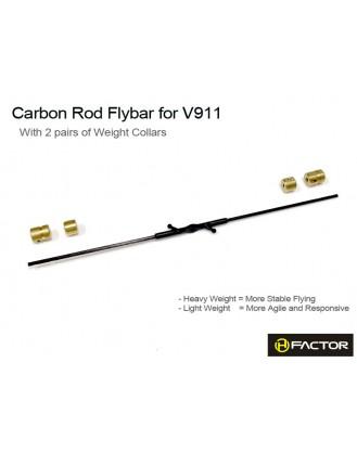 WL V911 (MonsterTronic MT100) Carbon FlyBar Set [HFV91101]