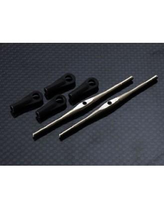 Titanium Turnbuckles (M2.5 x 61mm)- 2 pcs Trex 550 FBL HPTB004