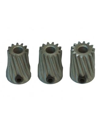 LX0661 - Pinion Slant Set X 3.50 mm Diam. Motor Shaft 12T-13T-14T - MOD 0.5 Steel