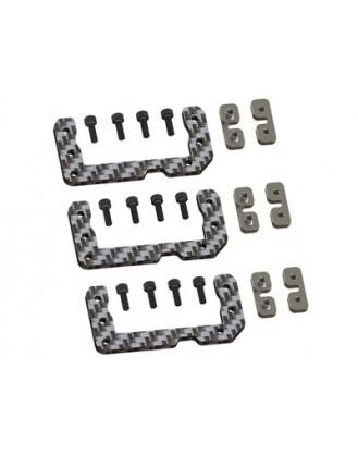 LX0497 – GOBLIN 500 – Cyclic Standard Size Servo Support – Silver