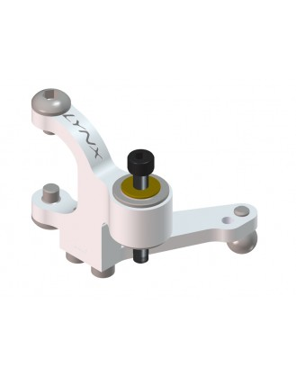 LX0537 - 300 X - Precision Tail Bell Crank Lever - Silver