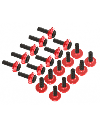 LX0797 - T-REX 600-700-800 - Stepped Frame Screw Set - Red - 20 pc