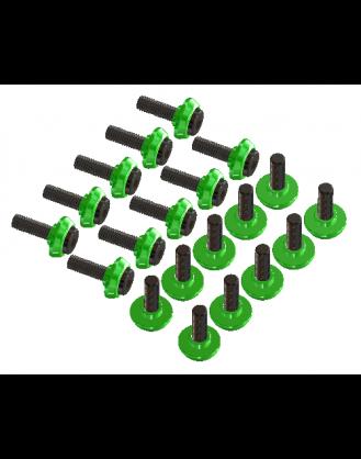 LX0798 - T-REX 600-700-800 - Stepped Frame Screw Set - Green - 20 pc