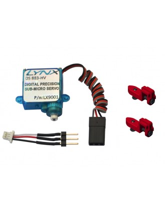 LX0883 - 130X - Lynx Tail Servo DS-883-HV With Support - Set - Red
