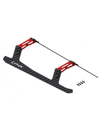 LX1411 - T-Rex 700E - Ultra Landing Gear - Set - Red - Carbon Fiber Skids - Profile 3