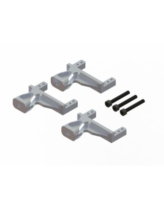 LX1660 - G380 - Aluminum Servo Support - 3 pc - Silver