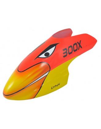 LX300X013 - 300 X - Air Brushed - Fiber Glass Canopy - STD Profile - Schema #03