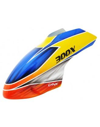 LX300X018 - 300 X - Air Brushed - Fiber Glass Canopy - STD Profile - Schema #08