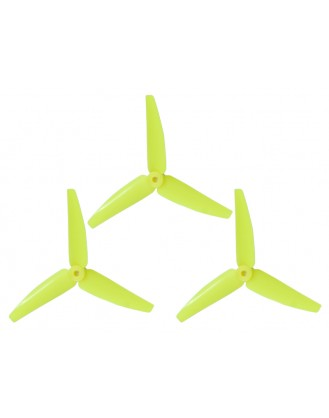 LX3P200SRX-824 - 200SRX - Lynx Plastic 3 Bladed Propeller 82 mm - Yellow Neon