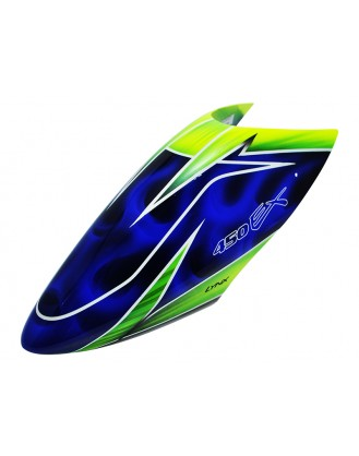 LX450X023 - 450 X - Air Brushed - Fiber Glass Canopy - Speed Profile - Color Schema #03