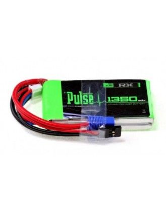 PULSE LIPO 1350mAh 7.4V RX JR and EC3 PLURX-13502