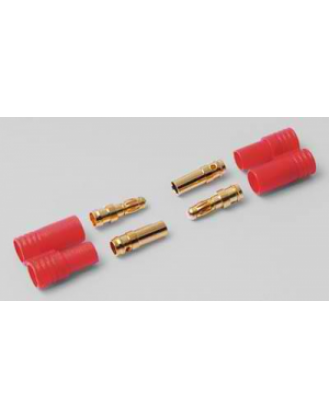 HYPERION LIFEPO CONNECTORS – 2X 3.5 MM GOLD WITH INSULATORS HP-FG-CON35-2P