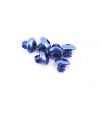 Traxxas 4x4mm Aluminum Button Head Screws (Blue) (6) TRA3940