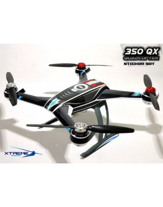 Pre-Cut Body Sticker Set (Black)-Blade 350QX 350QX04-K