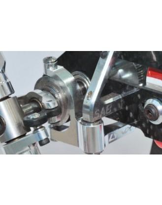 LX0502 – GOBLIN 500 – Precision Tail Bell Crank Lever – Silver